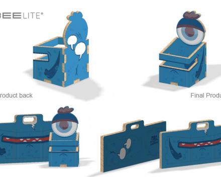 BEElittle Monster blue